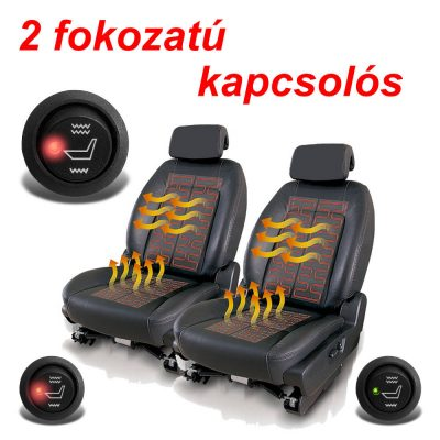 Ülésfűtés AWHL-400 szett 2 ülésre 2 fokozatú kapcsolóval
