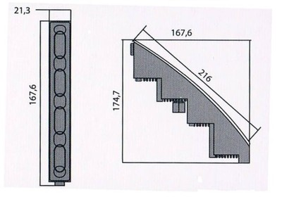 22 cm HOSSZÚ ÍVES NAPPALI MENETFÉNY