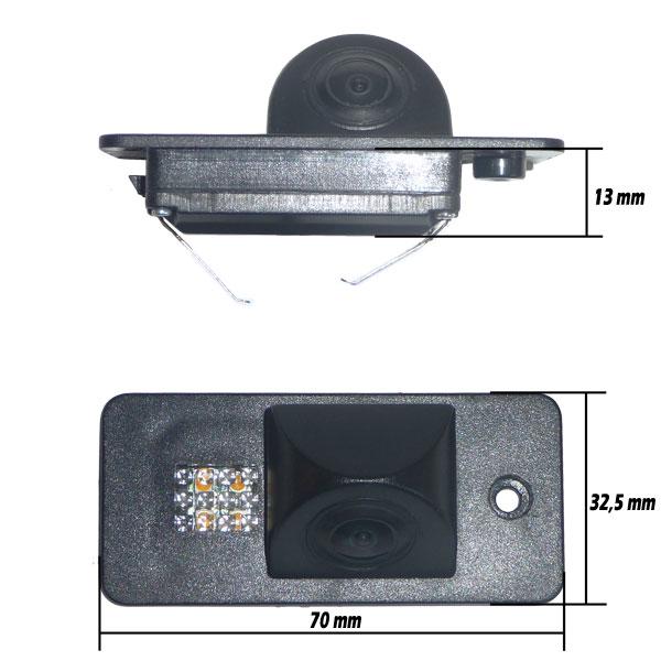 Audi-02 Audi Rendszámvilágítás helyére szerelhető Tolatókamera