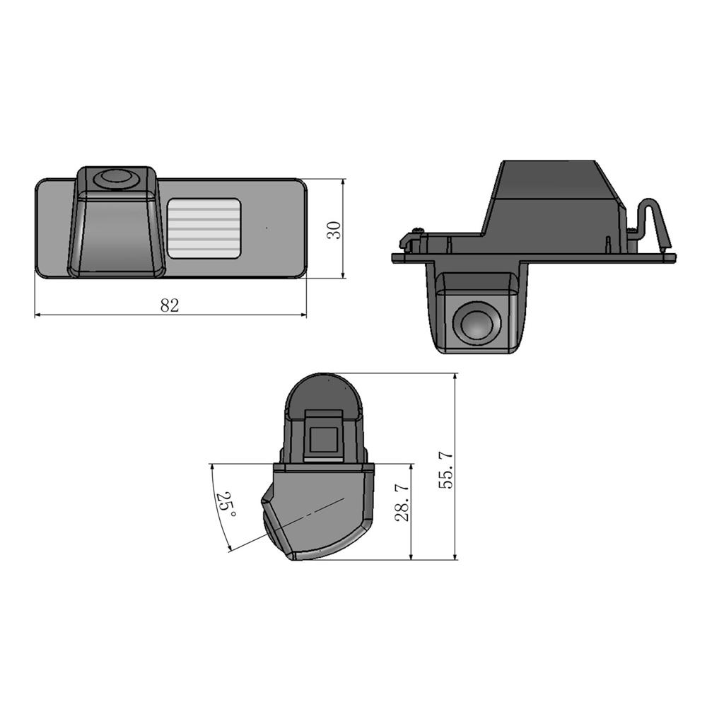 Chevrolet-02 Chevrolet Rendszámvilágítás helyére szerelhető Tolatókamera