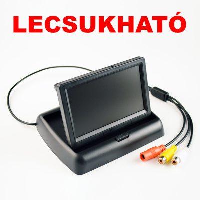 """REDGUARD 4.3"""" SZÍNES LECSUKHATÓ LCD MONITOR"""