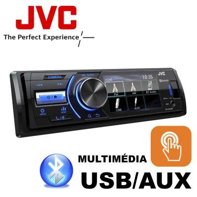JVC KD-X560BT 3' Érintőkijelzős Mechanika nélküli Bluetooth Multimédiás Fejegység 1 DIN-es