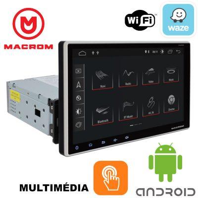 MACROM M-AN900 9' TABLET KIJELZŐS ANDROID OREO 8.1 Multimédiás Fejegység Fix kijelzővel 1 DIN-es