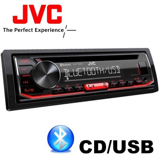 JVC KD-T702BT BLUETOOTHOS USB-s CD/MP3 Lejátszós Autórádió Kihangosítóval