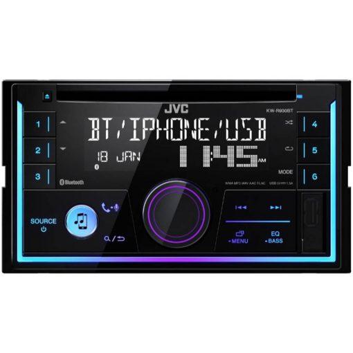 JVC KW-R930BT BLUETOOTHOS USB-s CD/MP3 Lejátszós 2 DIN Autórádió Kihangosítóval és telefonról zenelejátszással