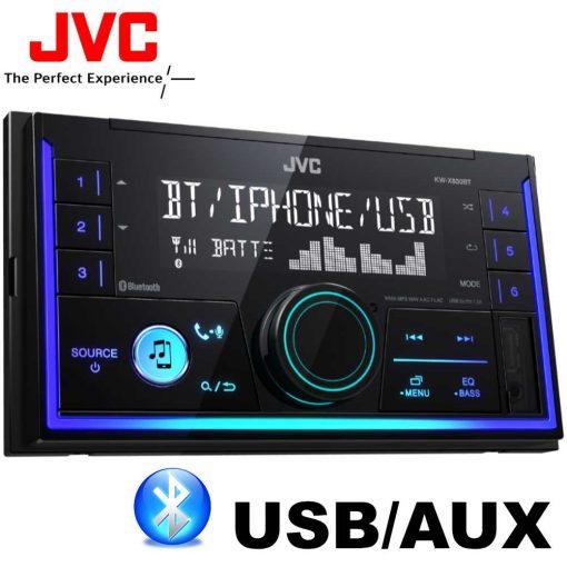 JVC KW-X830BT BLUETOOTHOS USB/AUX-os 2 DIN Autórádió Kihangosítóval