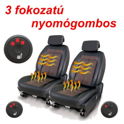 AWHL-400 BESZERELHETŐ ÜLÉSFŰTÉS 2 üléshez való készlet 3 fokozatú nyomógombos kapcsolóval