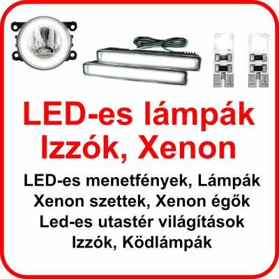 LED Menetfények, Lámpák, Izzók, Xenon