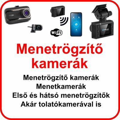 Menetrögzítő kamerák, Menetkamerák