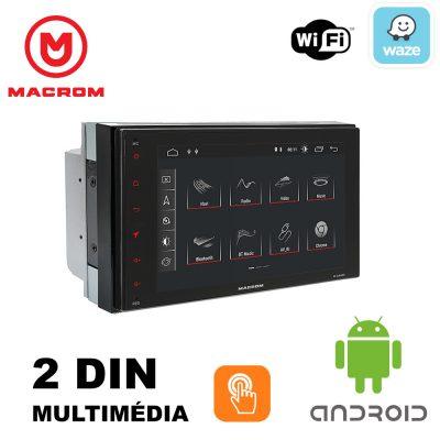 MACROM M-AN600 ANDROID 9.0 2 DIN-es méretű Multimédiás Fejegység